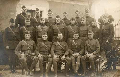 Officers of an unknown battalion of the 105th Infantry, 27th Division