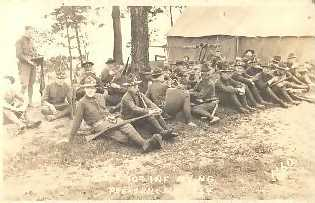Undated photo of 107th Infantry at Peekskill Camp.If image fails to appear click on this area