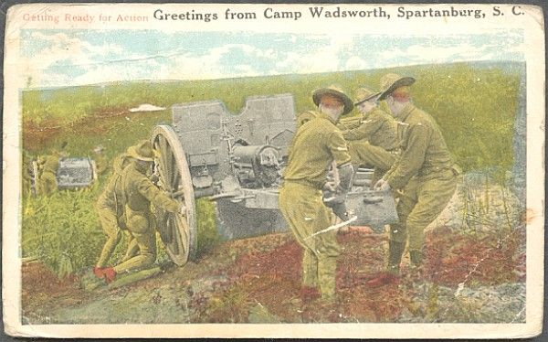 Camp Wadsworth postcard.If image fails to appear click on this area