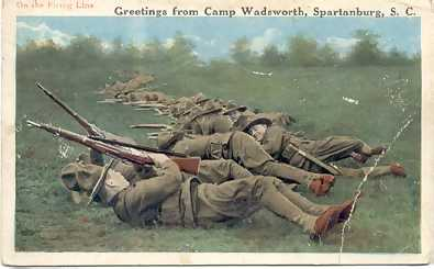 On the firing line, Camp Wadsworth.If image fails to appear click on this area