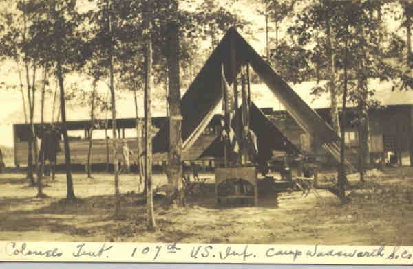 Colonel's tent, 107th Infantry, Camp Wadsworth, S.C..If image fails to appear click on this area