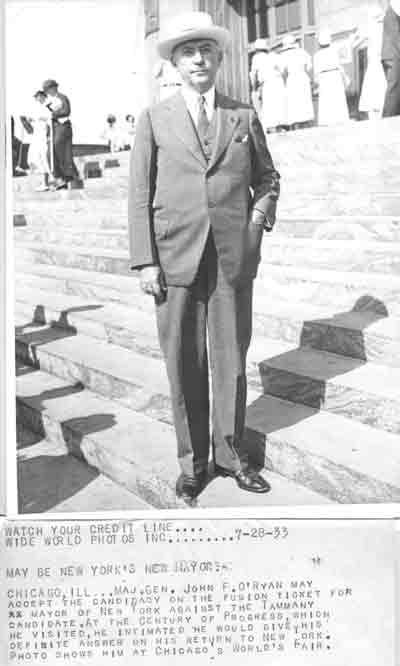 General O'Ryan at Chicago World's Fair in 1933