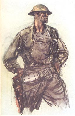 Machinegunner by Capt Harvey Dunn