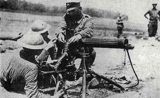 training on the vickers gun
